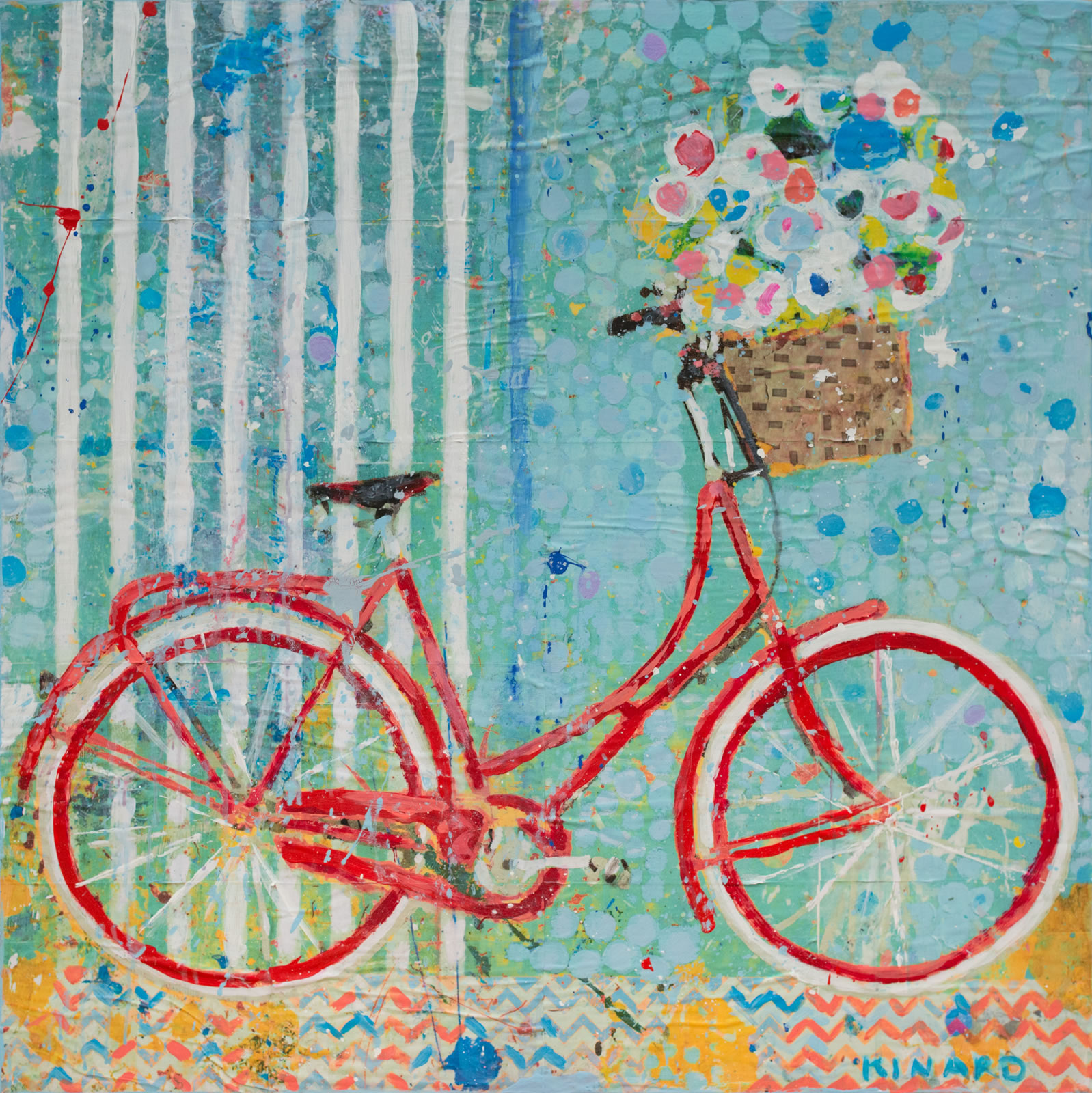 Red Fat Tire 36x36
