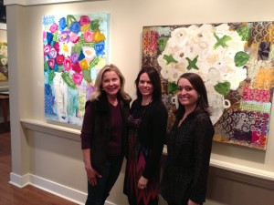 Gabby Christy and Sybil at Shain Gallery - Charlotte NC