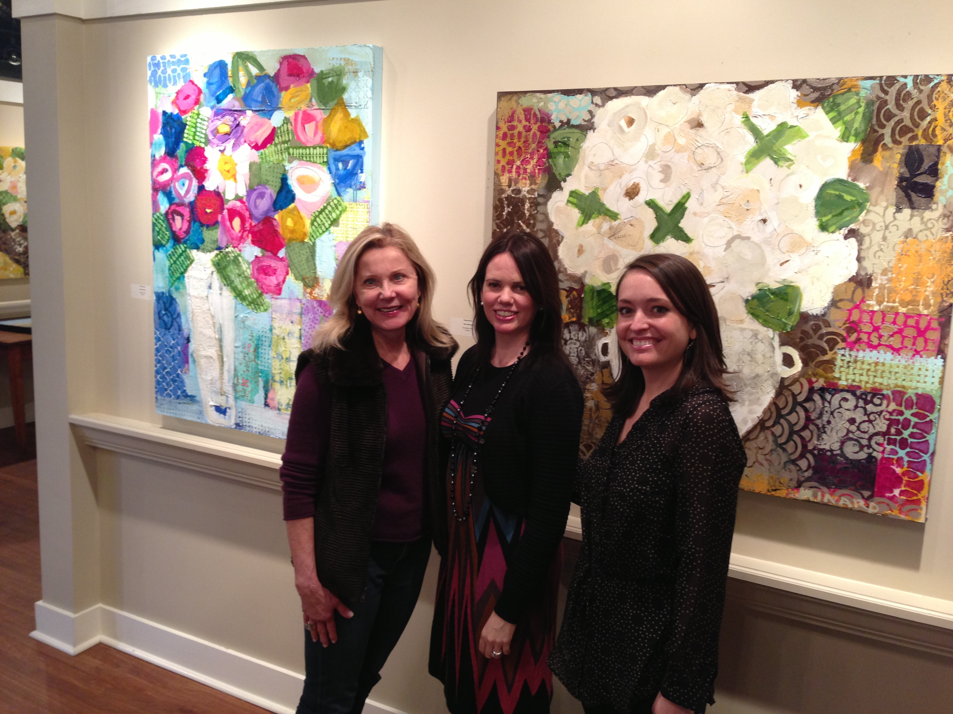 Meet and greet at shain gallery charlotte christy kinard gabby christy and sybil at shain gallery charlotte nc m4hsunfo