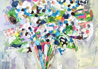 Hydrangea 40x40 - canvas  - $5200