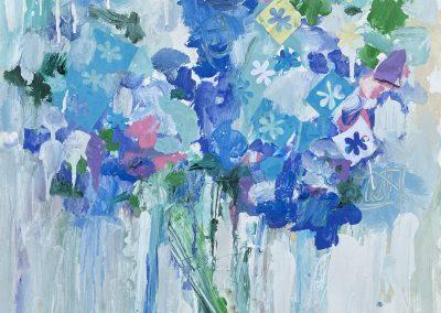 Hydrangea Blues 30x22 Paper